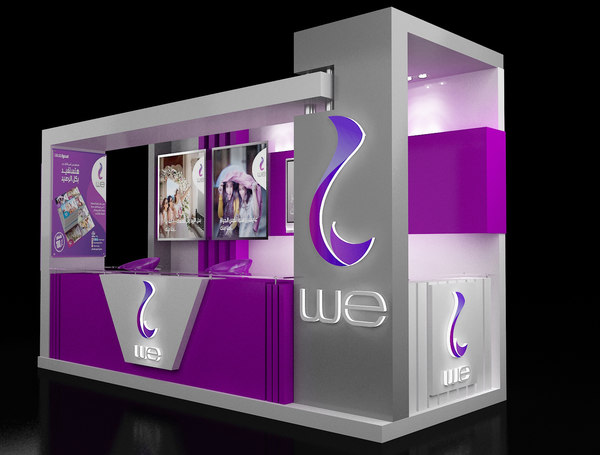stand exhibition booth 1 3D model
