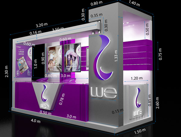 3D stand exhibition booth 1 model