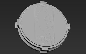 base stand figurines basketball 3D model