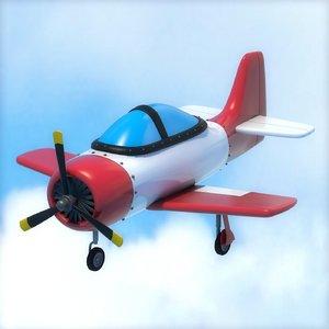 cartoon airplane 3D model