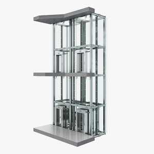 3D elevator lift architecture model