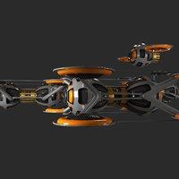 fleet drones 3D model