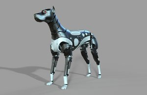 3D robot doberman
