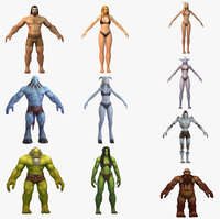 10x warcraft rigs humanik 3D