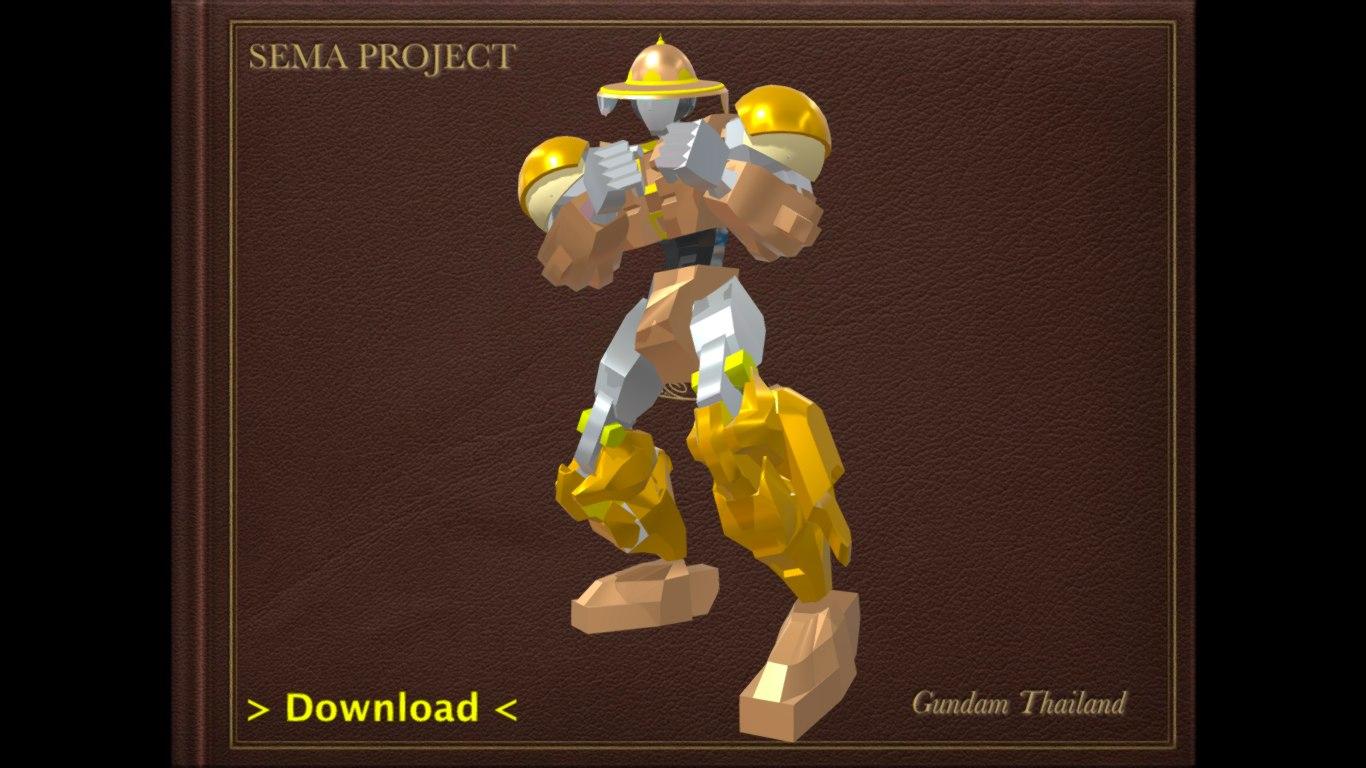 sema thailand boxing robot 3D model