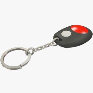 3D car keychain alarm