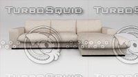 3D hi modern european sofa