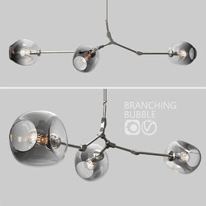branching bubble 3 lamps 3D model