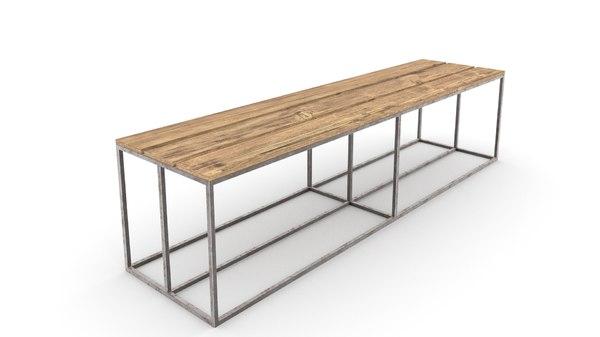 3D gym bench