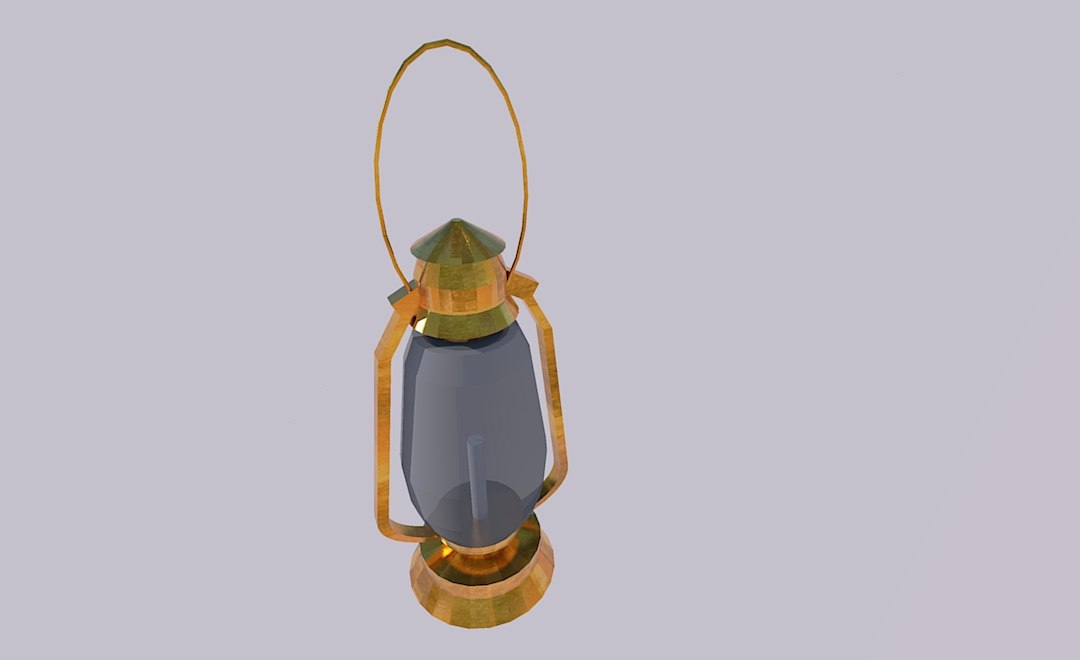 gas lamp candle model