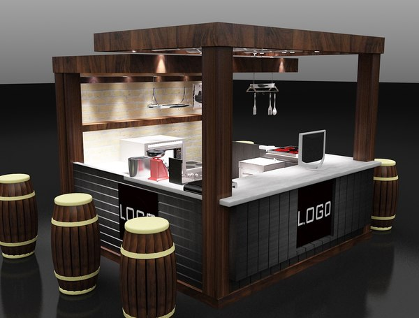 3D kiosk partition booth
