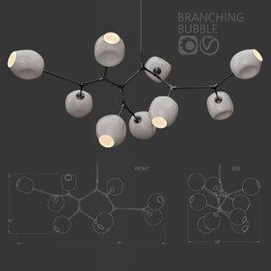 branching bubble 9 lamps 3D model