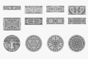 3D celtic ornament
