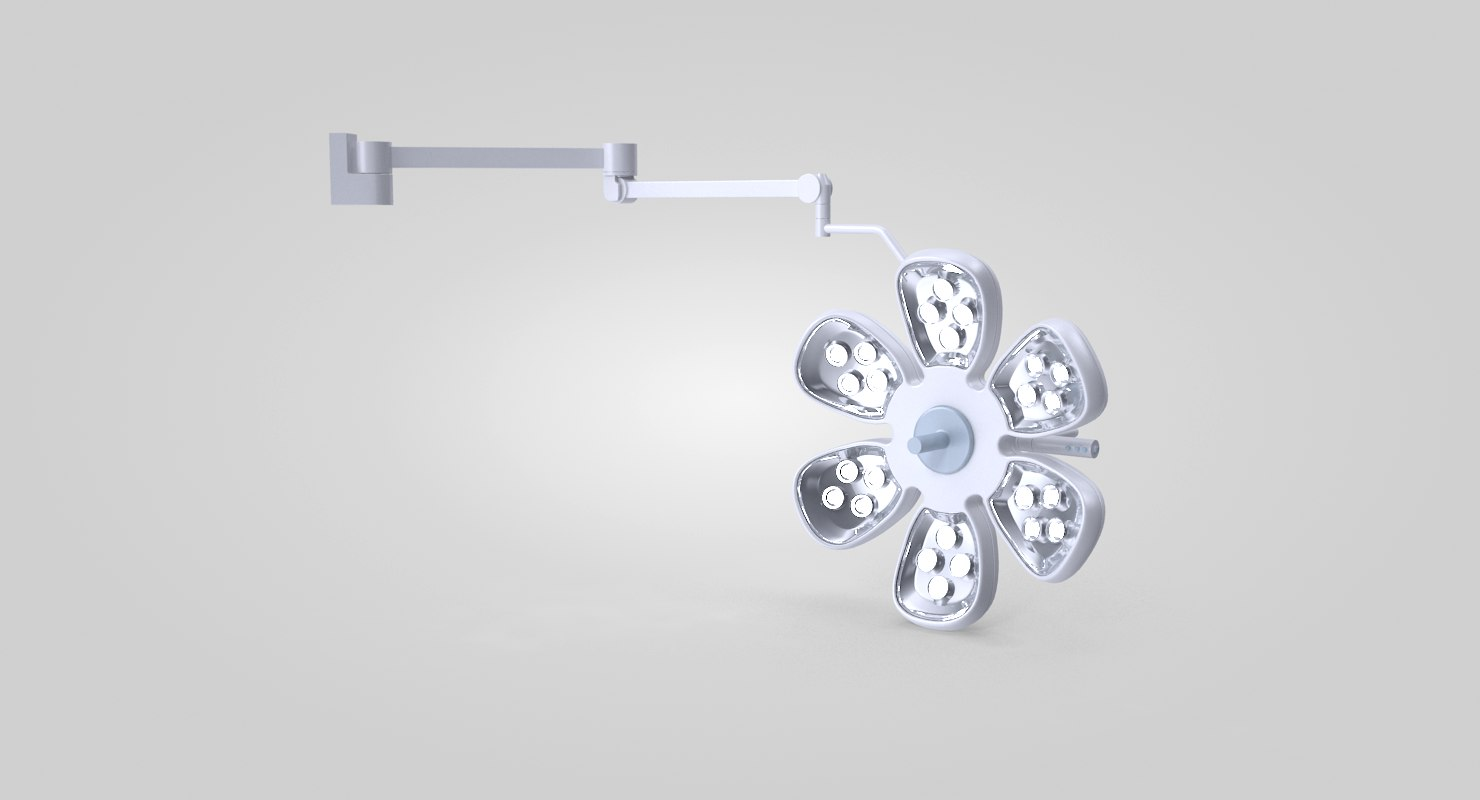 3D model surgical wall lamp