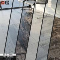 3D tile stone set 10