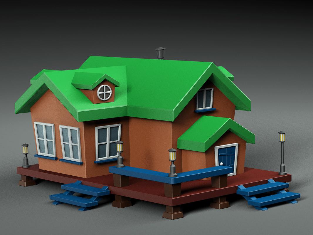 3D cartoon house v1