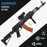 3D ak rifle weapons 339