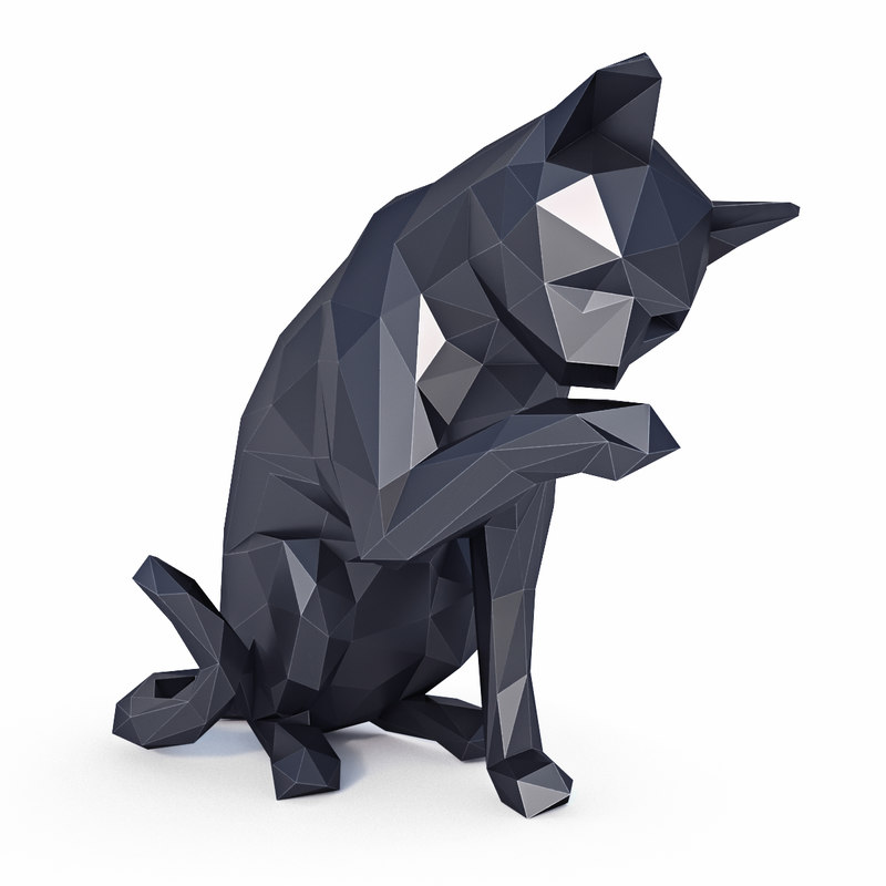 3D cat v1 model
