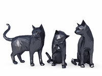 Cats Low Poly