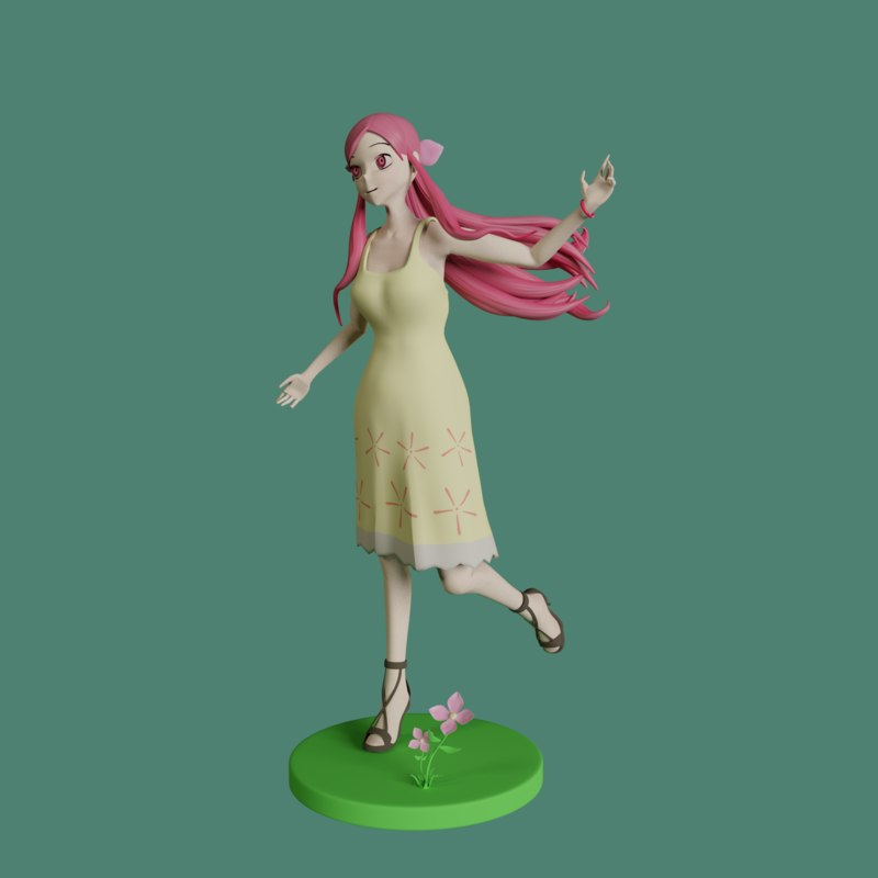 mememe girl - posable 3D model