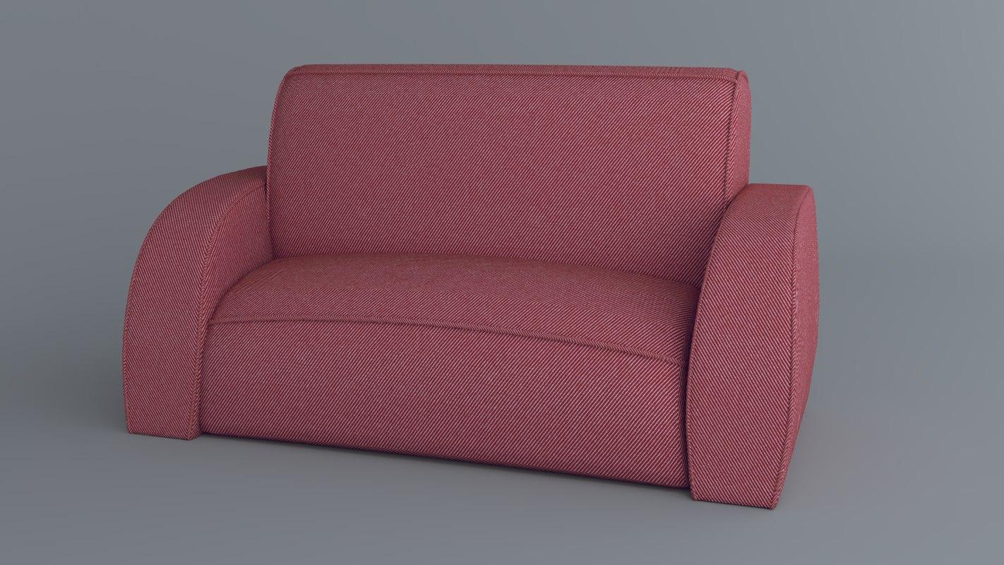 sofa animations 3D model