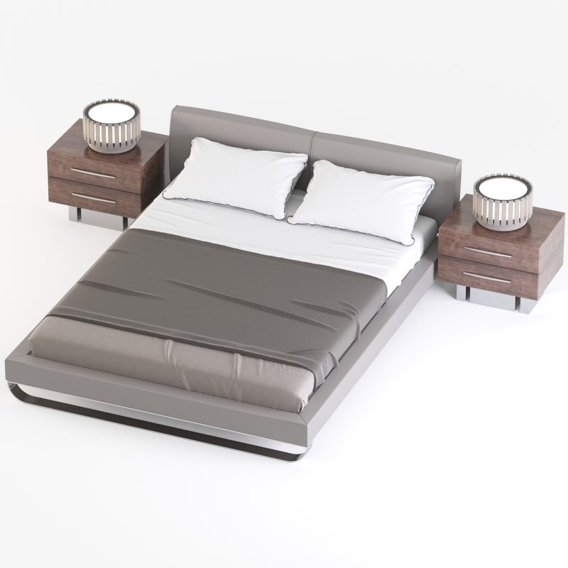 3D model king bed chelsea