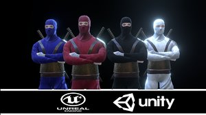 ninja enemy assassin character 3D