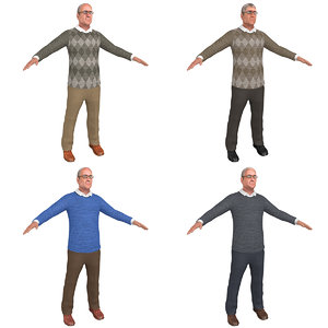 3D model pack old man s