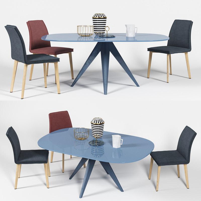 bonaldo lias chair moa 3D model