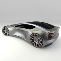 Concept styled sports coupe 2