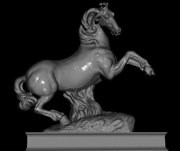 horse rampant sculpture statue 3D model