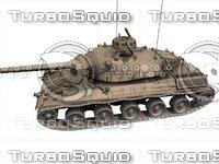 3D french tank amx-30 model