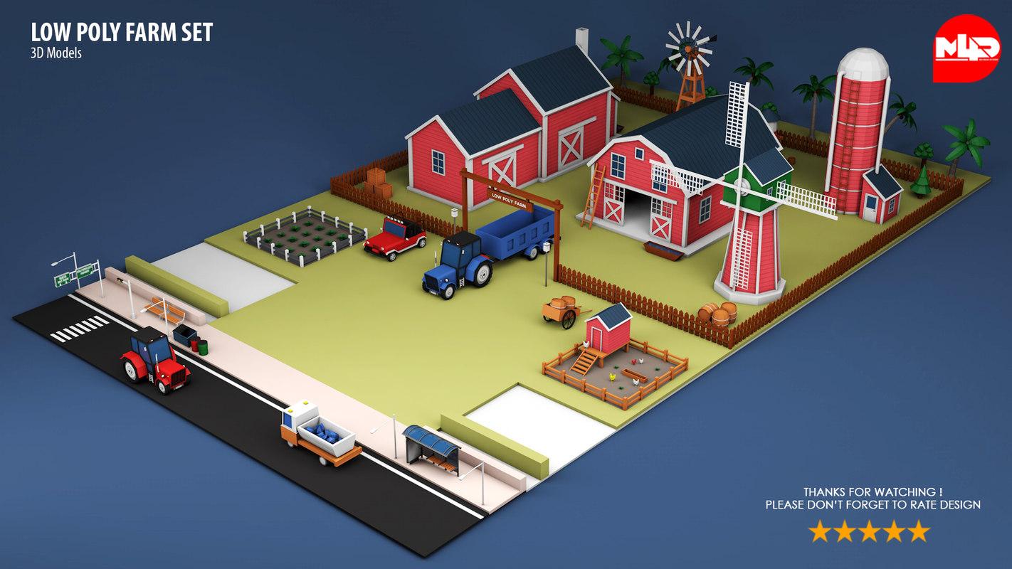 farm set 3D