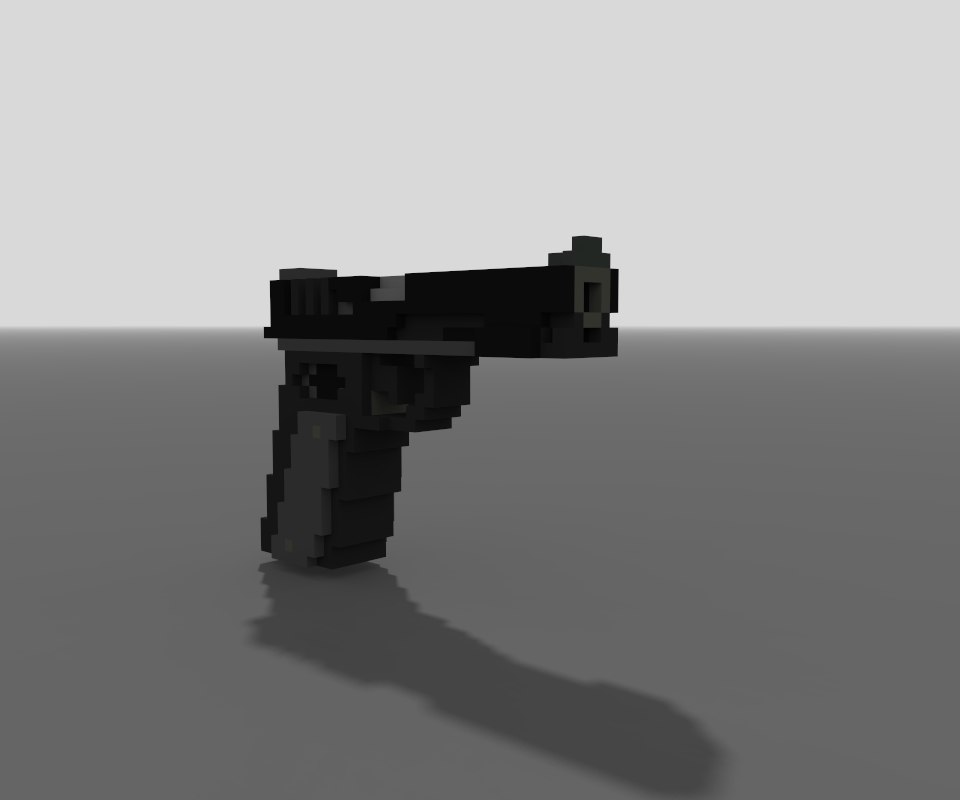3D magicavoxel glock 34 model