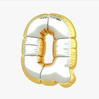 q balloon letter 3D