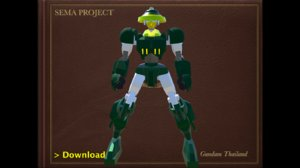 3D sema boxing robot model