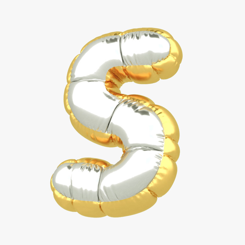3D s balloon letter