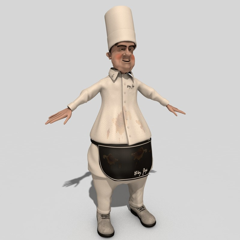 toon character chef 3D