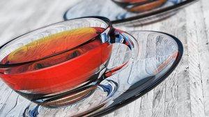 tea cup transparent 3D model