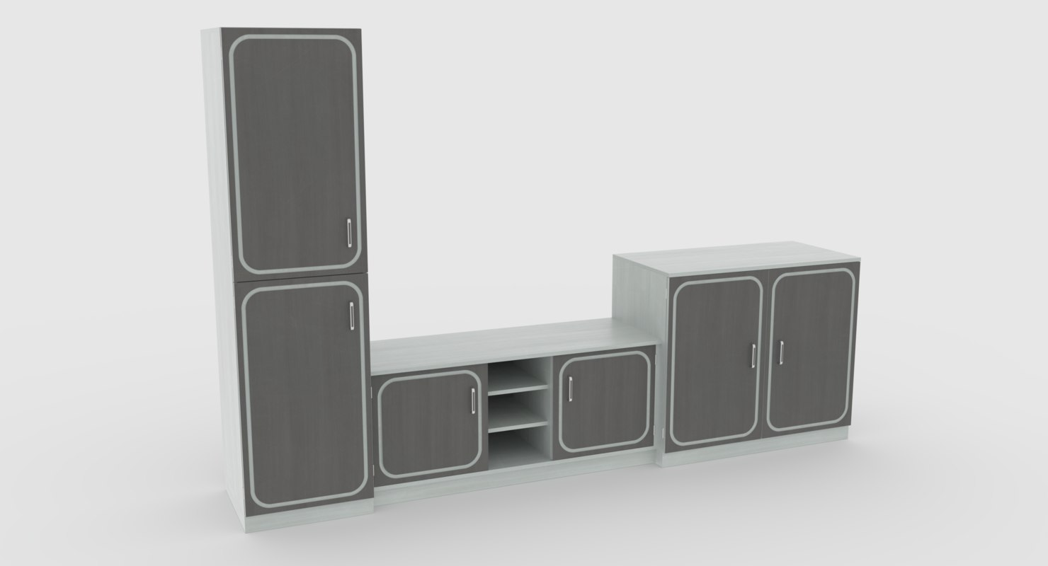3D tv stand 57 model
