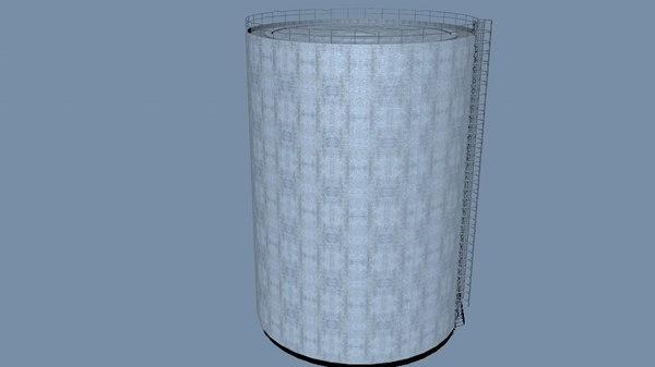silo damaged accessable 3D model