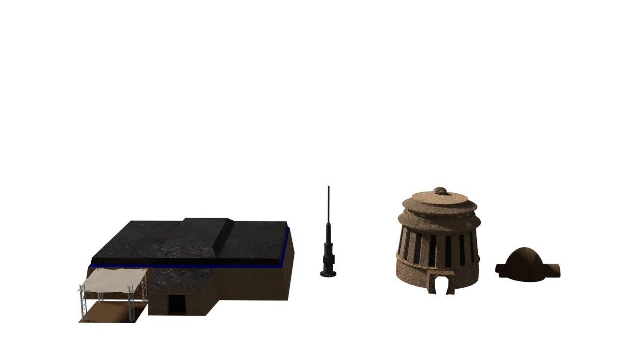 3D model buildings tatooine