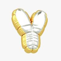 y balloon letter 3D model