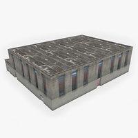 3D model industrial building 11