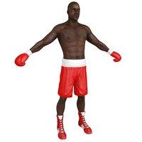 3D boxer man