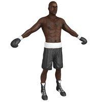 boxer man 3D