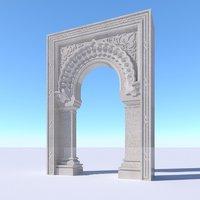 oriental islamic arch model