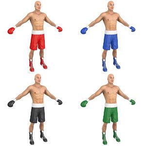 3D pack boxer man