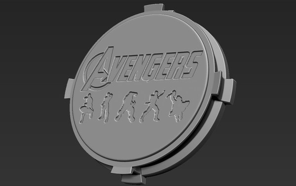 3D base stand figurines avengers model