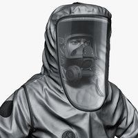3D hazmat worker level zbrush